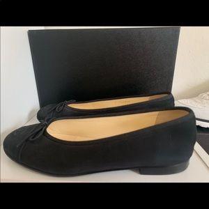 Black Chanel Ballerina Flats Size 37.5 EU/7 US